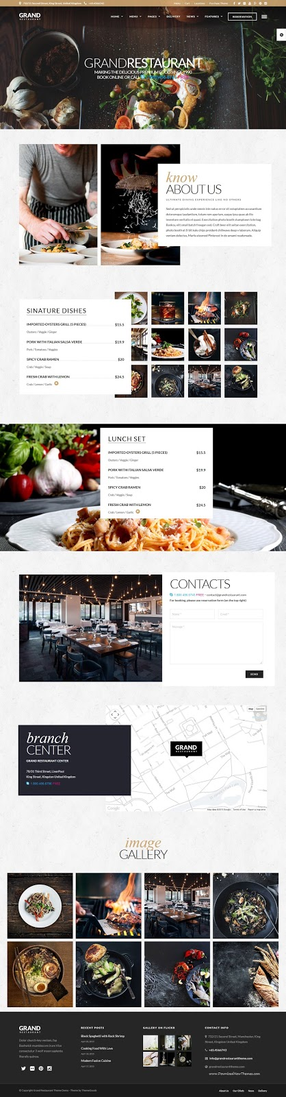 Best Responsive WordPress Restaurant Theme 2015
