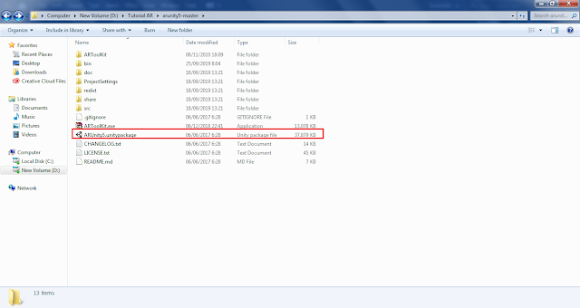Membuka ARToolkit dari Folder Download