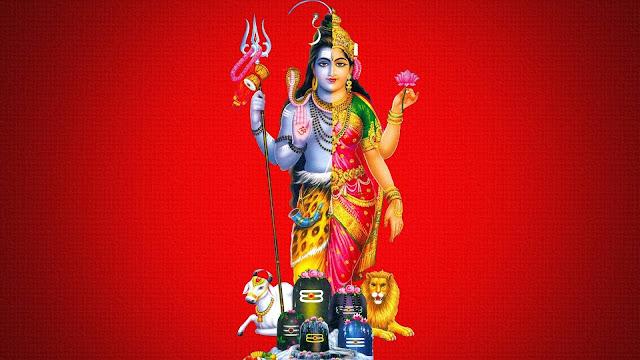 Lord Shiva & Parvathi Both Wallpaper