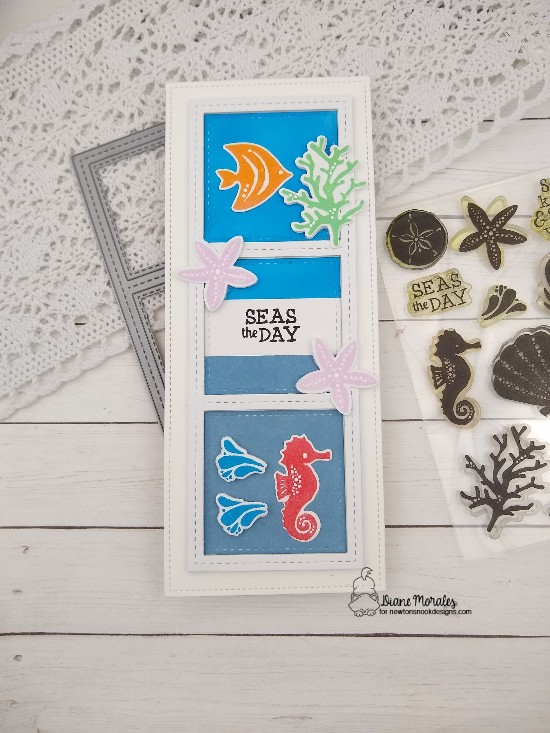 Seas the day by Diane features Tranquil Tides and Slimline Frames & Windows by Newton's Nook Designs; #newtonsnook