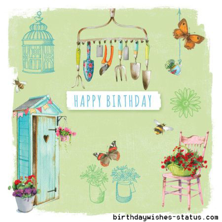 birthday wishes for gardeners