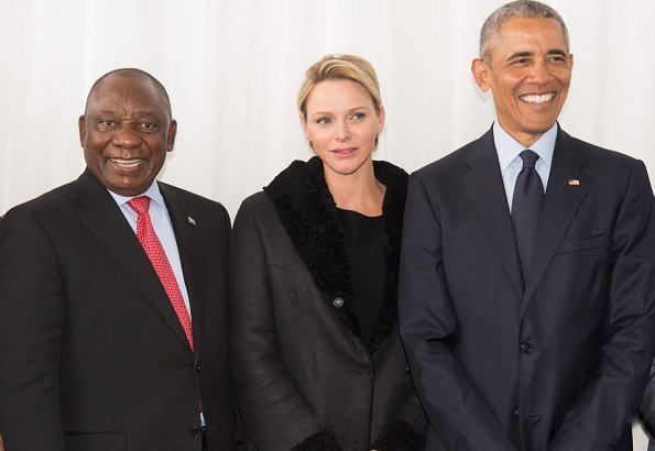 Princess Charlene, former US President Barack Obama, Cyril Ramaphosa and King of the Zulu attend Nelson Mandela International Day