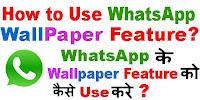 WhatsApp Wallpaper Feature in Hindi?