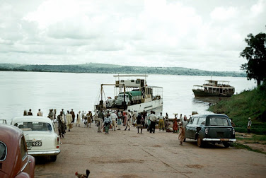 Igbo travelers in the early 90's crossing the River Niger