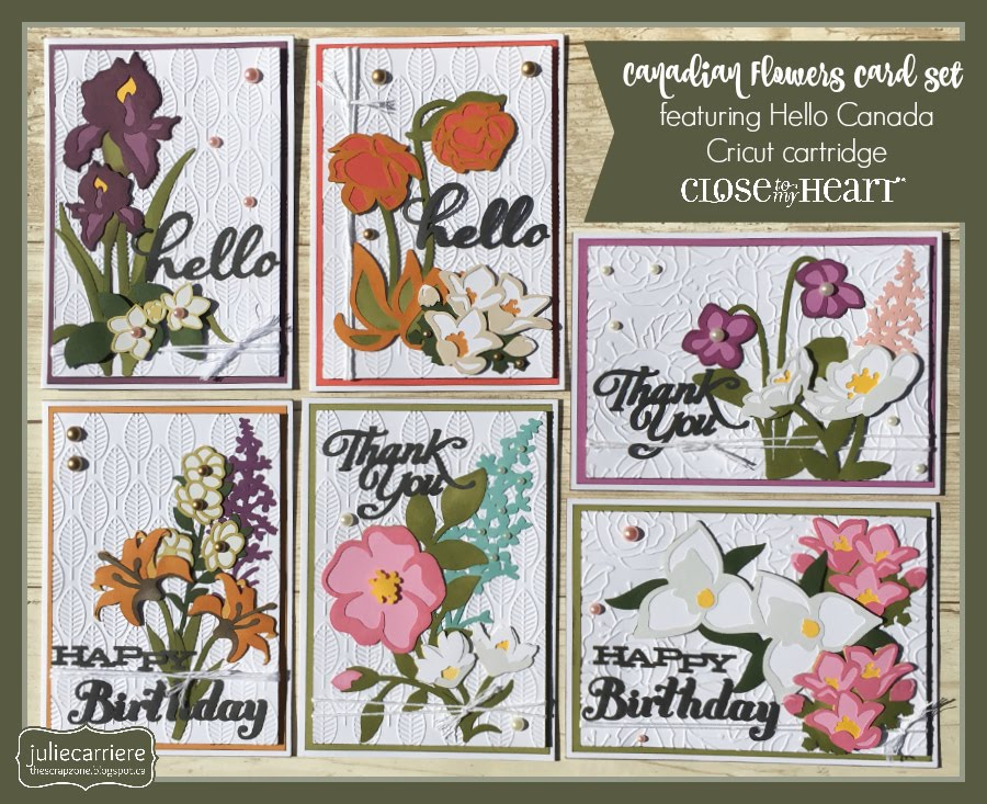 Canadian Flowers card set