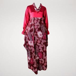 gamis batik untuk orang yang gemuk
