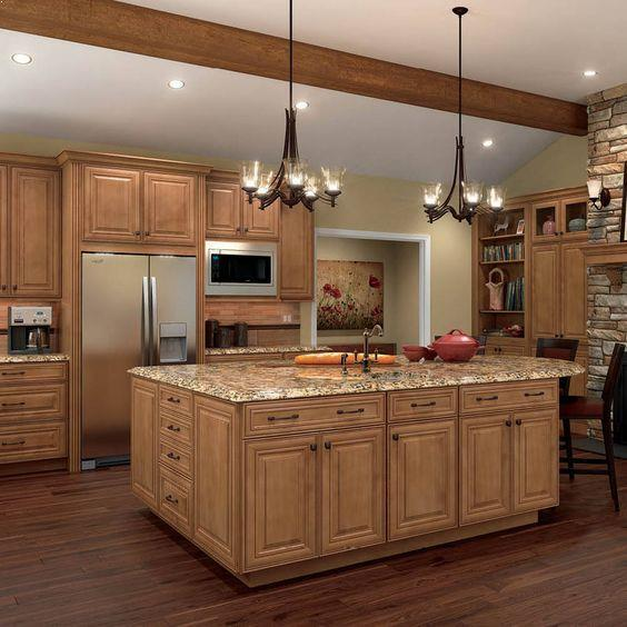 Best Wall Paint Color For Honey Maple Cabinets - Visual Motley