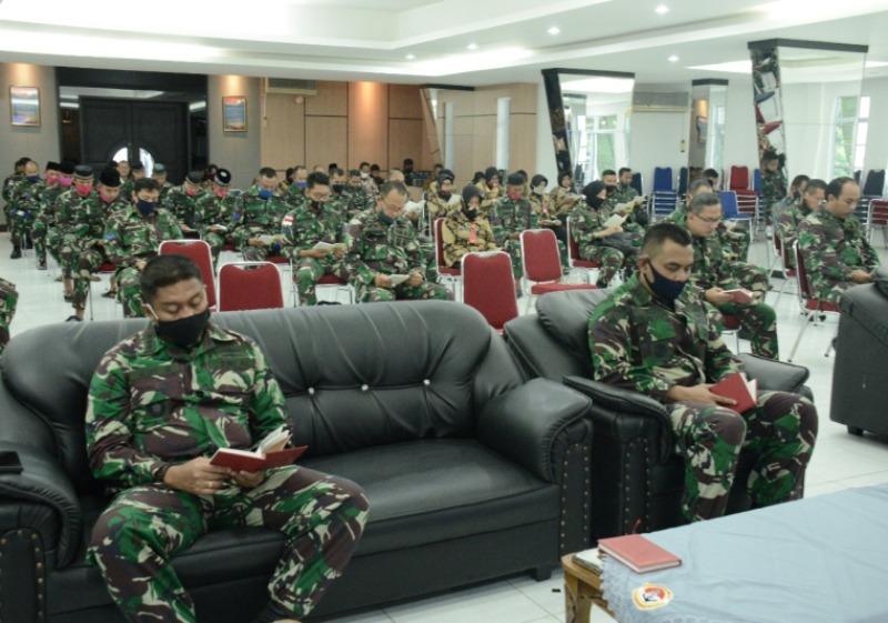 Lantamal IV Gelar Doa Bersama untuk Latihan Glagaspur TK III/L3 Koarmada I Tahun 2020