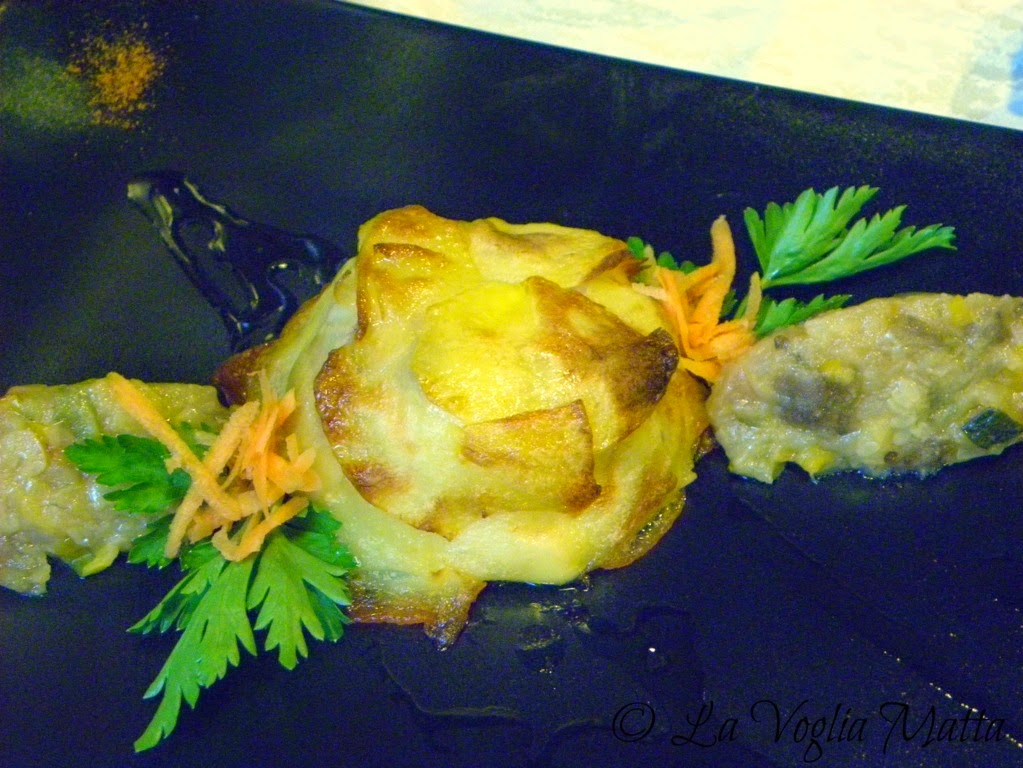 tortino di patate e branzino