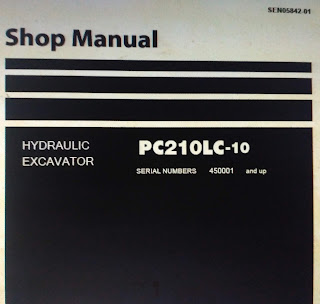 Shop Manual Hydraulic Excavator pc210lc-10 1