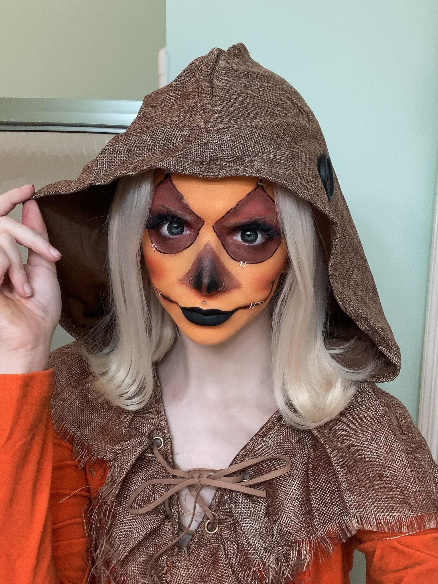 scary scarecrow Halloween makeup