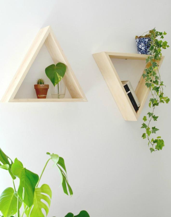 4 DIY decó con diseño de triángulo