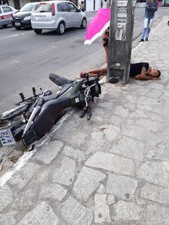 Homem toma por assalto e acaba ferido a bala na Capital