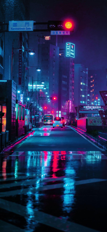 tokyo streets during nighttime wallpaper