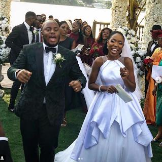Lala Akindoju and Chef Fregz wedding: Moment Adekunle Gold surprised the couple