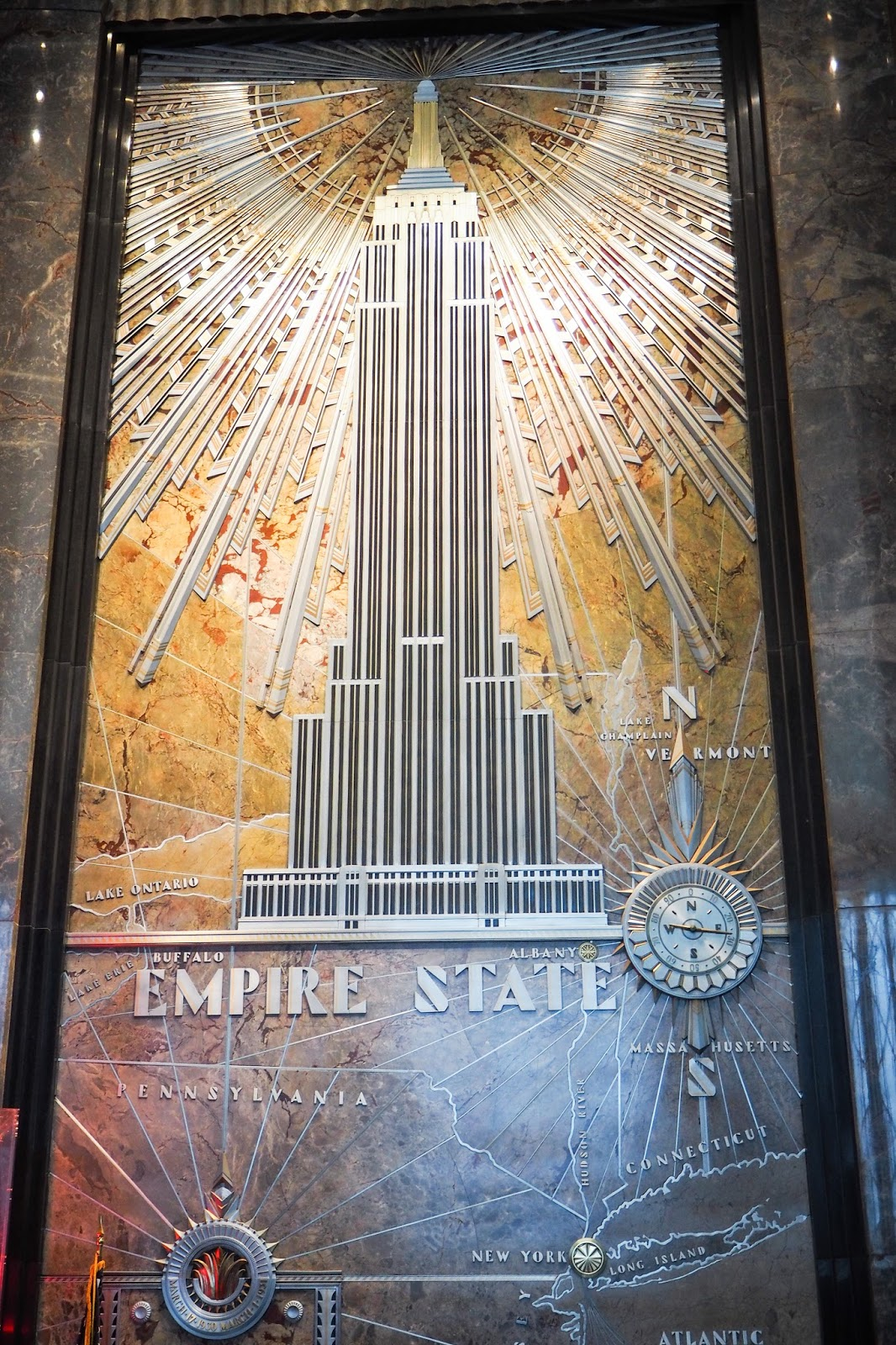 The inside of the Empire State Building