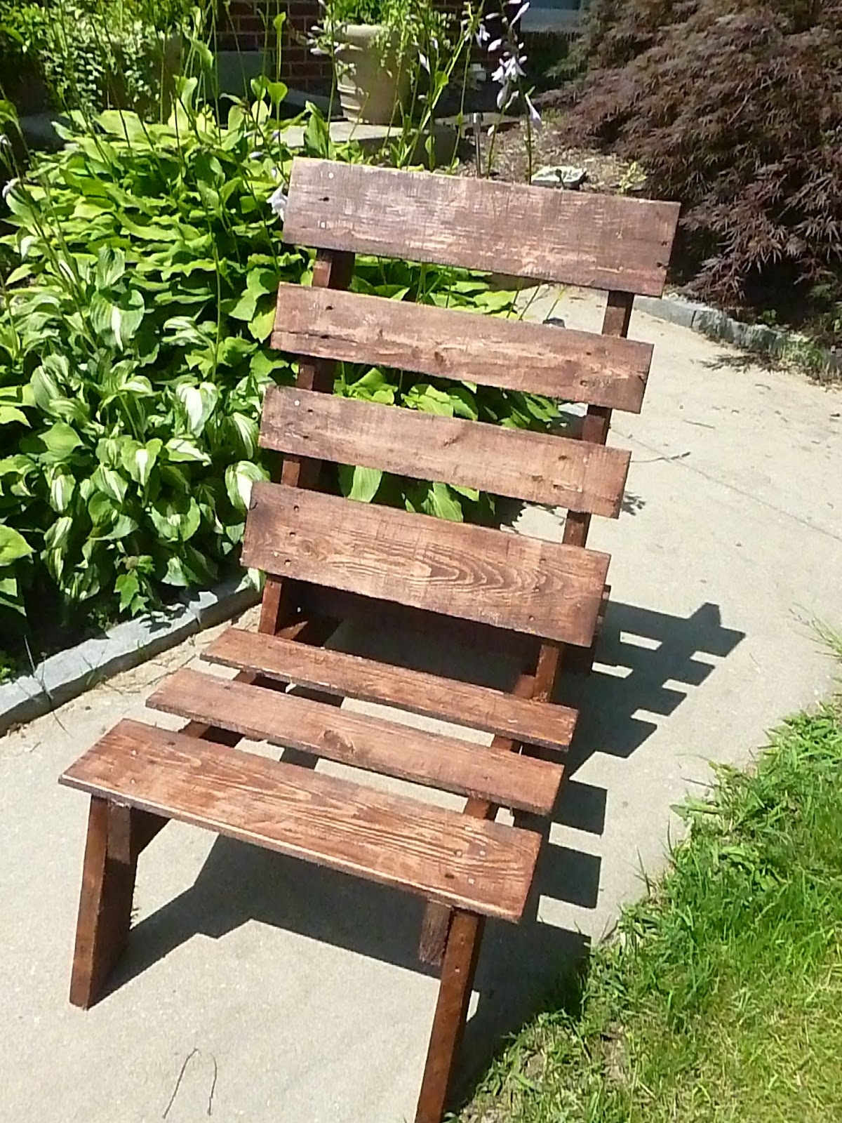 Pallet Wood Chair On Exercises Our Pinteresting Family