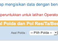Cara Pengisian Formulir Pendaftaran Online Polisi Polri