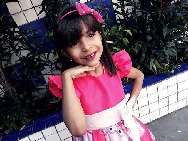 Recebido Vestido da Peppa Pig Para Festa Loja Ana Giovanna moda infantil
