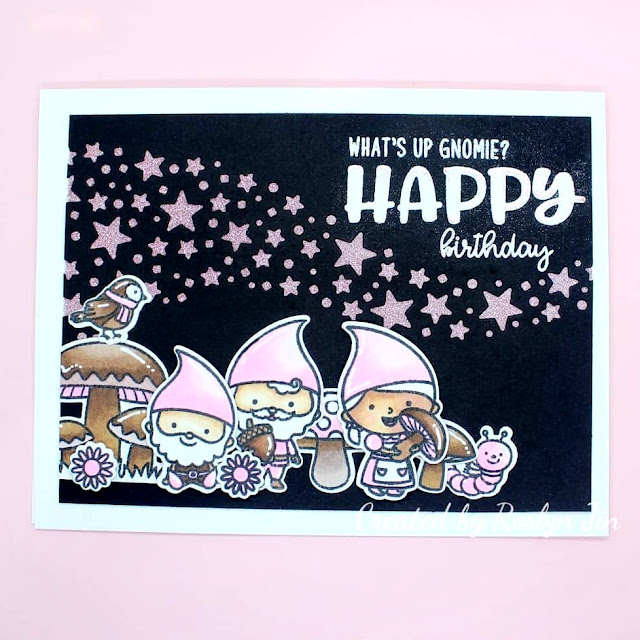 Sunny Studio Stamps: Home Sweet Gnome Customer Card by Roslyn Jin