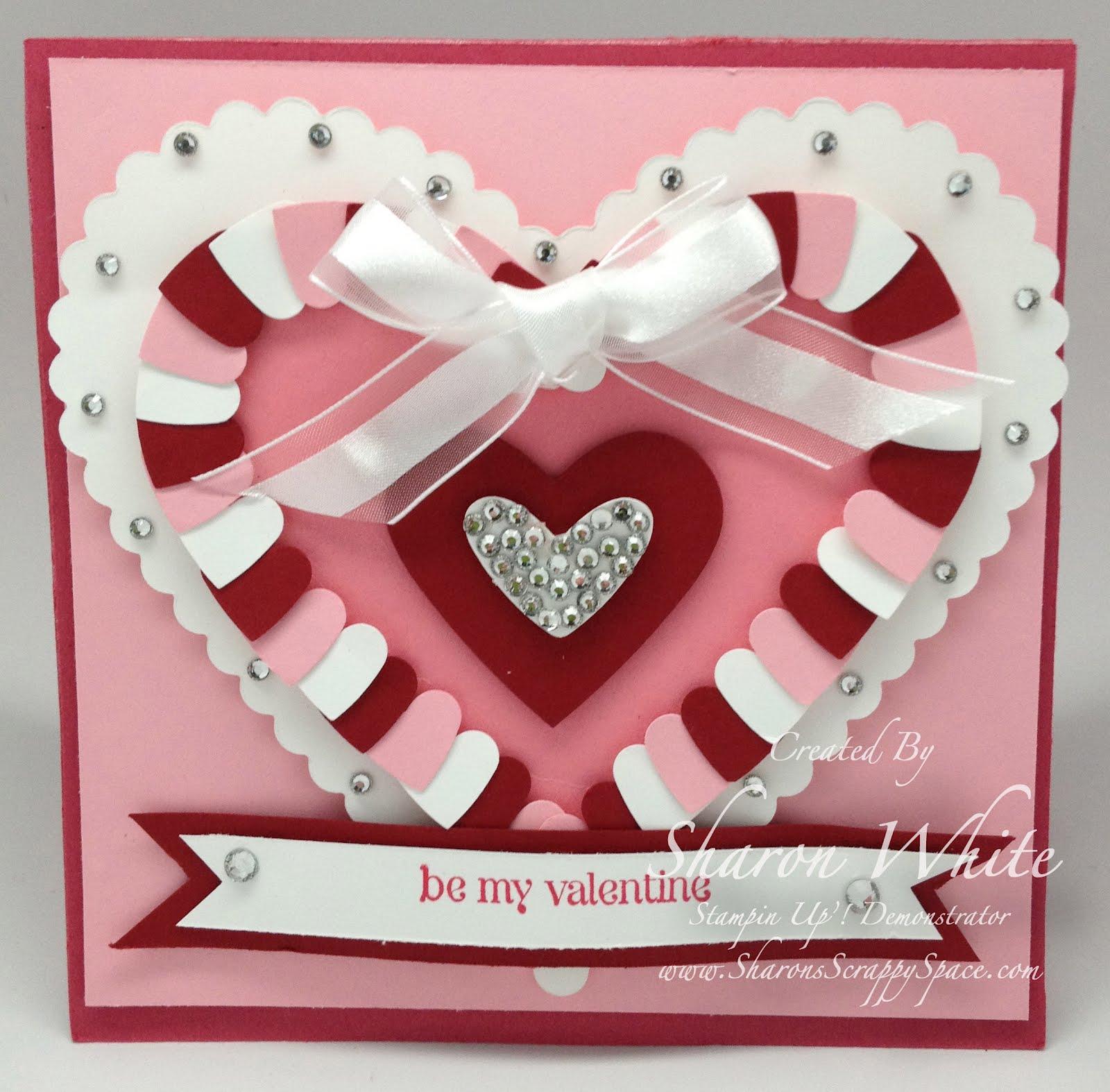 sharon's scrappy space valentine heart card pop up