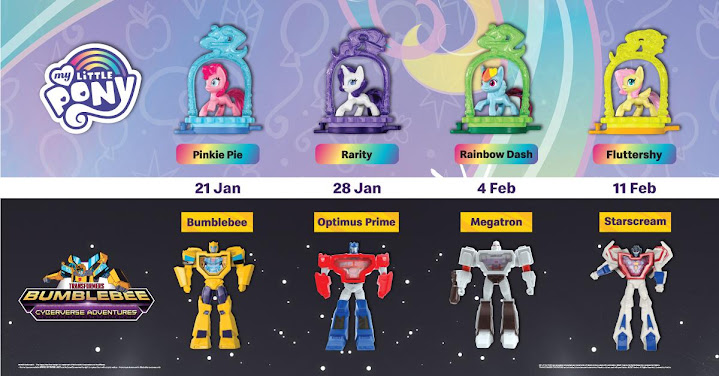 Mainan Happy Meal MCD Bumblebee Dan My Little Pony 2021