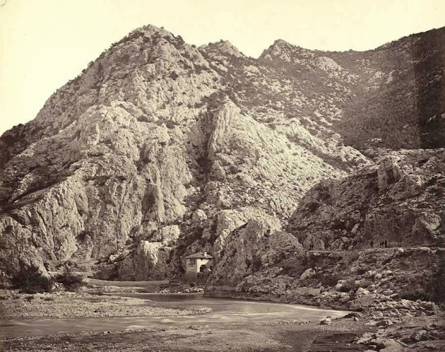 Demir Kapi gorge of the Vardar seen from the north. October 1863