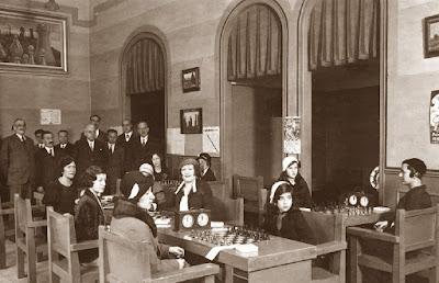 Inauguración del I Campeonato Femenino de Ajedrez 1932