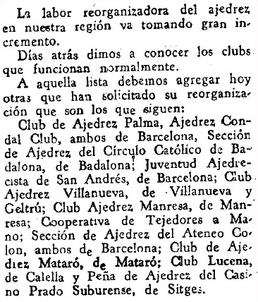 Recorte de Mundo Deportivo del 20 de marzo de 1940