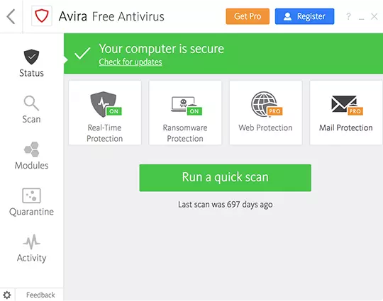 avira free antivirus windows10