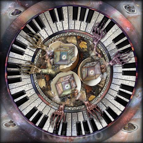 """Instrumental nest with piano for six hands / Nido instrumental con piano para seis manos"""" obra presentada por Ramón Rivas / SPAIN"""