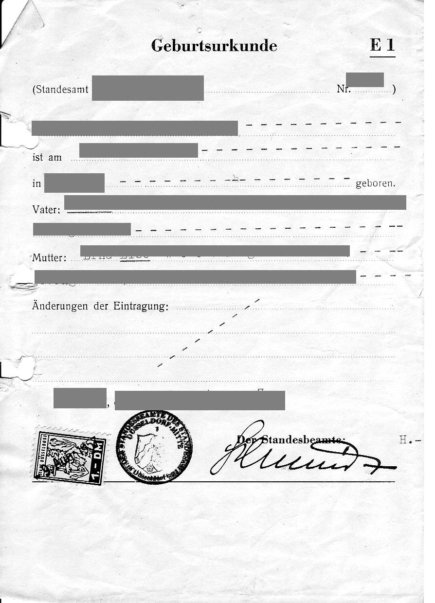 Tolle Geburtsurkunde übersetzungsvorlage Bilder - Entry Level Resume ...
