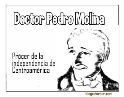 dibujo del Doctor Pedro Molina a coloear