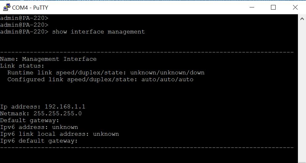 infoSecStudent Blog: Palo Alto PA-220 - Web Interface Initial