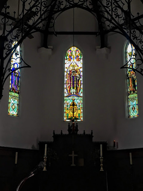 stained glass in St. Mary's Cathedral in Kuala Lumpur, Malaysia