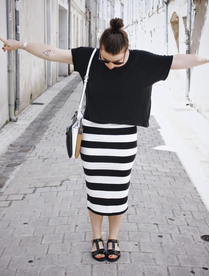 67da6e5060a0 Lucieandvenus - Blog mode et lifestyle La Rochelle  Ma jupe crayon ...