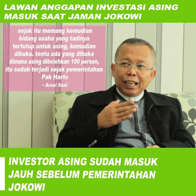 Ternyata Investor Asing Sudah Masuk Jauh Sebelum Pemerintahan Jokowi