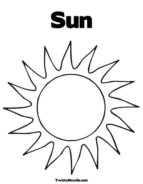 early play templates: Sun templates