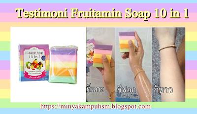 khasiat pada kulit sabun fruitamin soap
