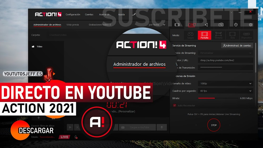 Como Hacer un Directo con Action en Youtube 2021