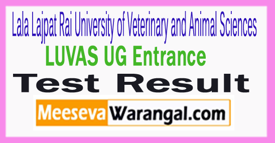 LUVAS UG Entrance Test Result 2017