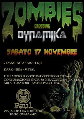 Zombie Party a Modena: 17 Novembre 2012