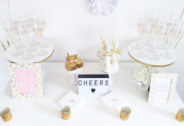 White and Gold Bridal Shower by popular South Florida party blogger Celebration Stylist