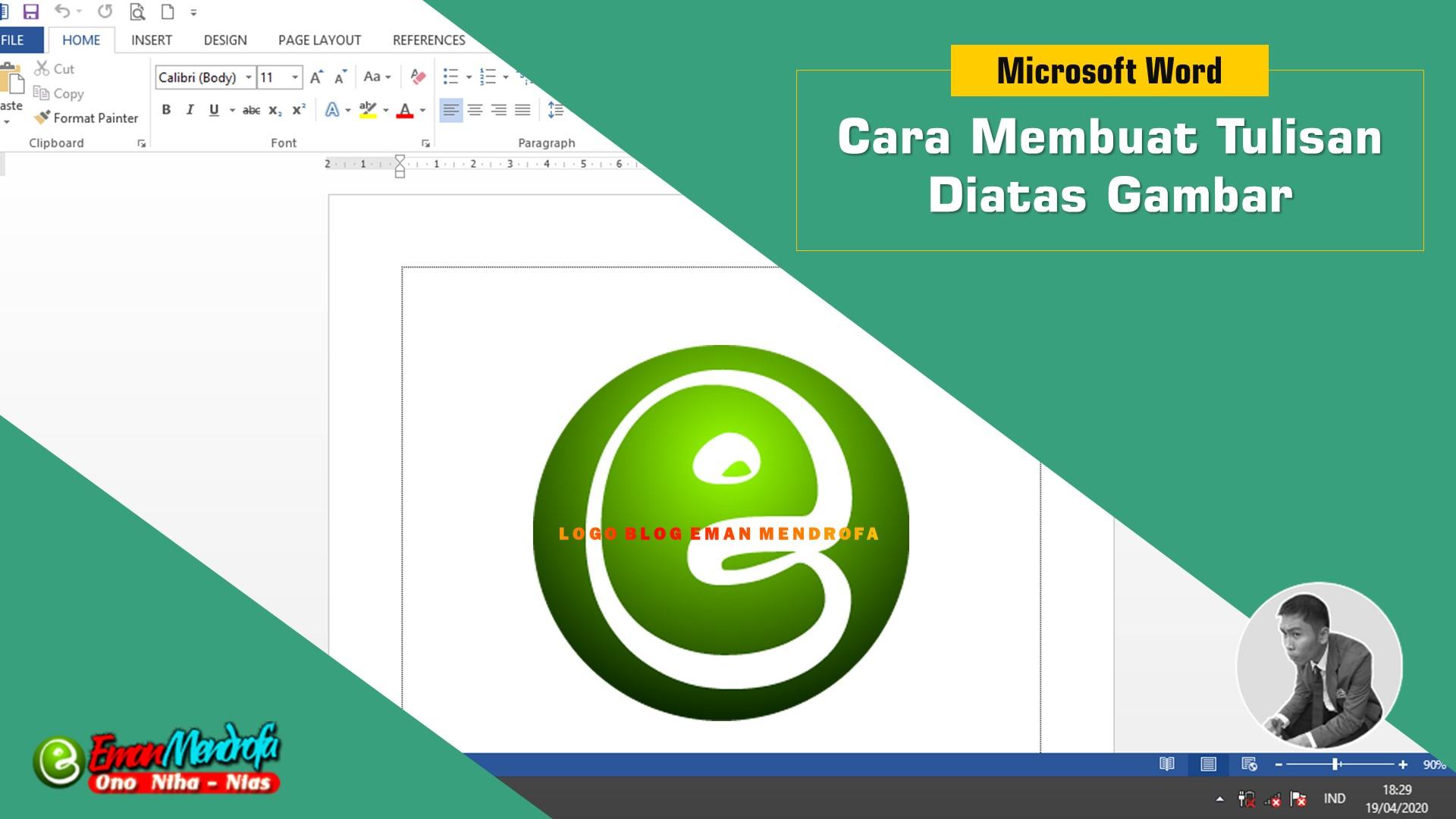 Cara Membuat Tulisan Diatas Gambar di Microsoft Word