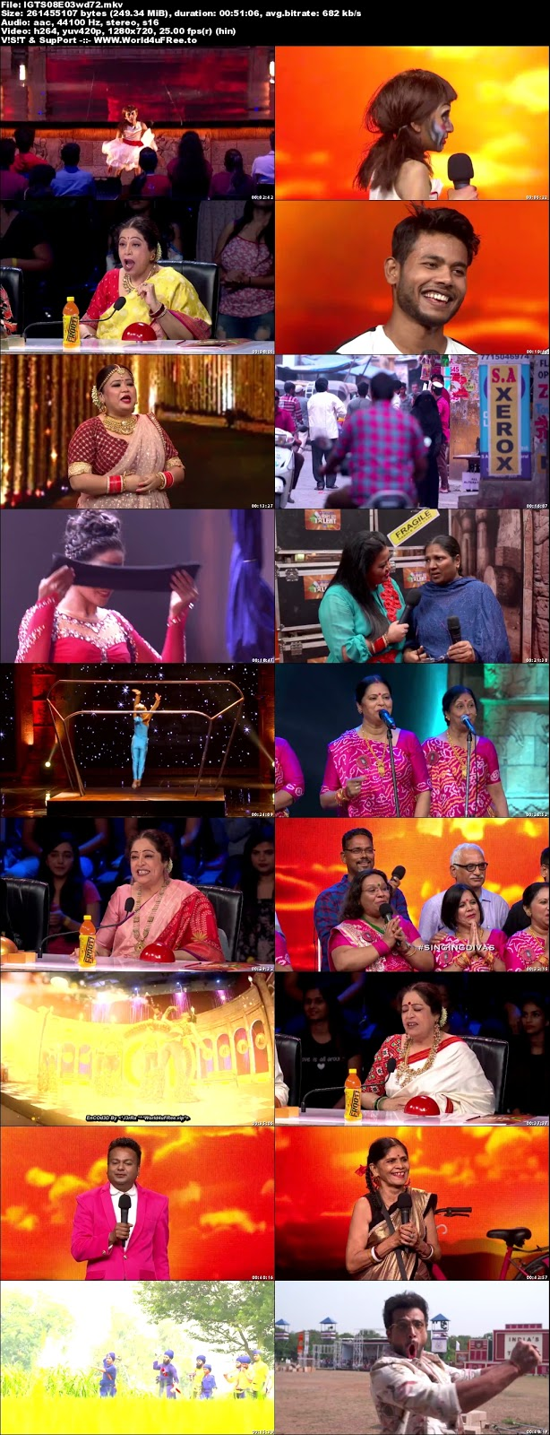 India's Got Talent S08 Episode 03 720p WEBRip 250mb x264 world4ufree.fun tv show India's Got Talent  Season 8 Star Plus tv show HD 720p free download or watch online at world4ufree.fun