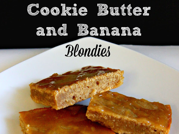 Cookie Butter and Banana Blondies