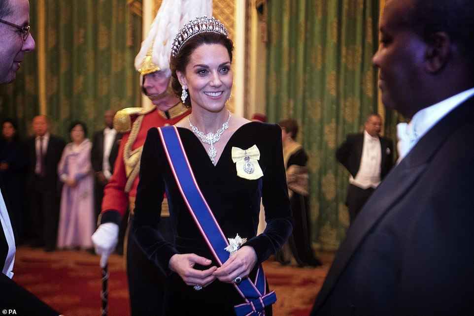 Prince Wiliam and Duchess Kate Attend The Queen's Diplomatic Reception at Buckingham Palace