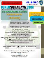 Open Recruitment at PT. Metro Mandala Persada Sidoarjo Oktober 2020