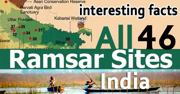 List of all 46 Ramsar Sites in India State Wise UPSC Notes