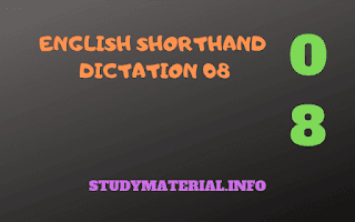 SHORTHAND DICTATION MATTER WITH SHORTHAND NOTATION
